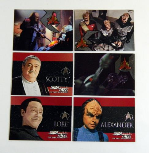 Star Trek The Next Generation Episode Collection Klingon Embossed Season 6 Set