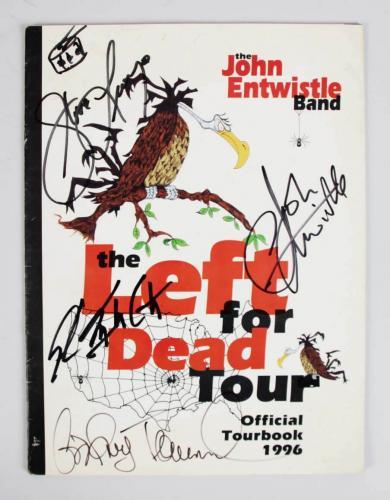 1996 John Entwistle Band Signed Tourbook – COA JSA