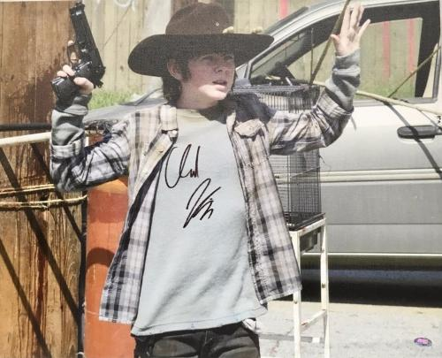 CHANDLER RIGGS- The Walking Dead signed 16x20 Gallery Wrapped Canvas-FSC #10872