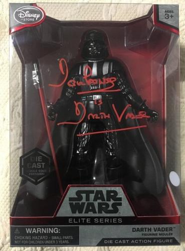 Dave Prowse SIGNED DISNEY STAR WARS ELITE SERIES Darth Vader FIGURE JSA COA 2