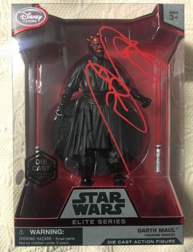 Ray Park SIGNED DISNEY STAR WARS ELITE SERIES Darth Maul FIGURE JSA COA 2