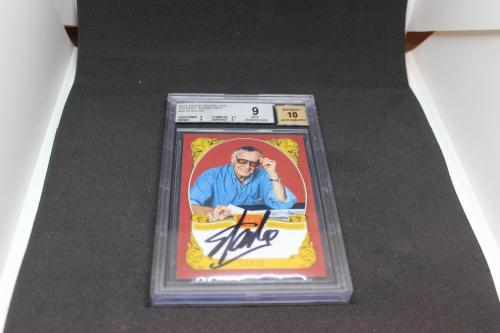 Stan Lee Signed Historic Signatures Panini Card BGS 9 Autograph Grade 10 STL 1C