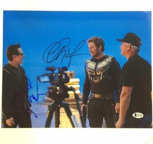 CHRIS PRATT + JAMES GUNN Signed GUARDIANS OF THE GALAXY 11x14 BAS Beckett COA