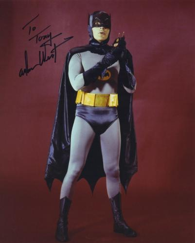 Adam West Signed Autographed Batman Color Photo Bam Zoom!! To Tony