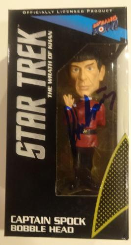 Leonard Nimoy Captain Spock Signed Autographed Bobble Head Star Trek Rare