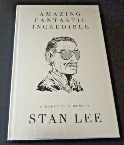 Amazing Fantastic Incredible Stan Lee Deluxe Signed Autograph Book BAS Certified