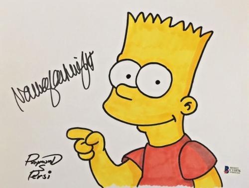 NANCY CARTWRIGHT Dual Signed The Simpsons Original Art Raymond S Persi BAS COA A