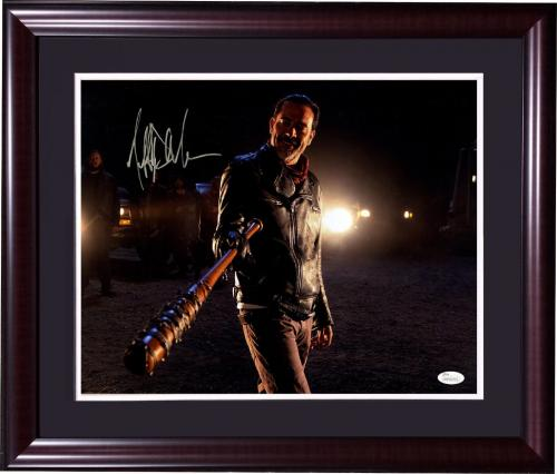 Jeffrey Dean Morgan Walking Dead signed 16x20 Negan photo framed auto JSA COA