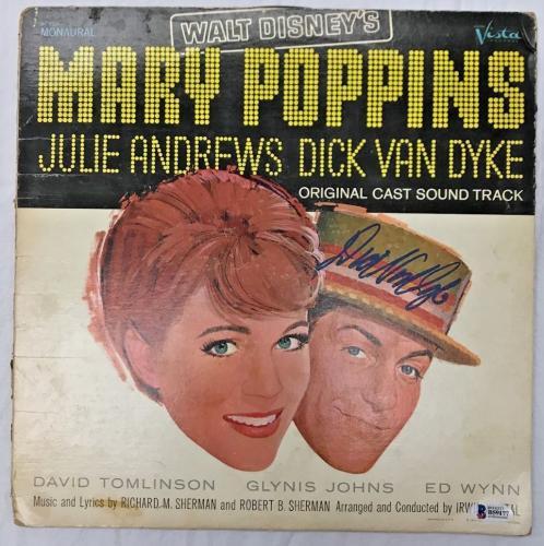 DICK VAN DYKE Signed Mary Poppins Original LP Record BAS Beckett COA
