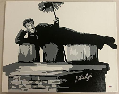 DICK VAN DYKE Signed 16x20 Original Painting Canvas #9 Custom 1/1 PSA/DNA COA