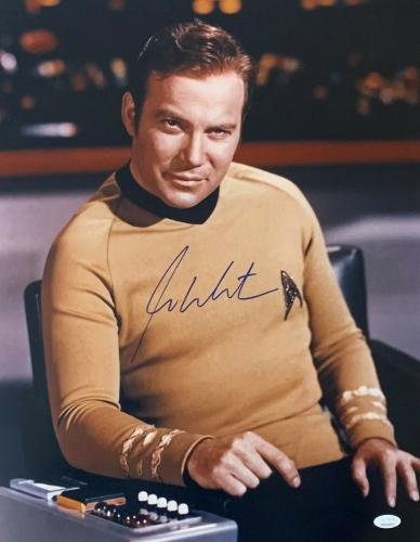 William Shatner Star Trek Signed Autographed 16x20 Photo JSA Authenticated 3