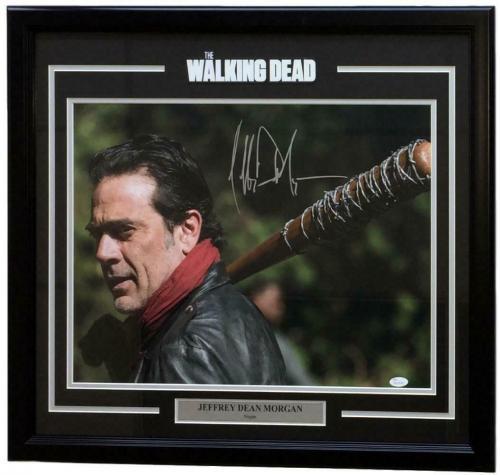 Jeffrey Dean Morgan Signed Framed Walking Dead Negan Look Back 16x20 Photo JSA