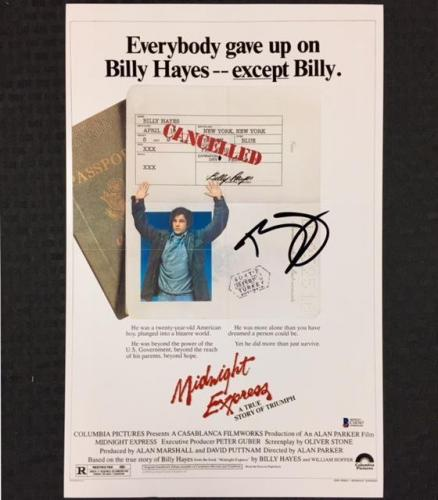 BILLY HAYES Signed MIDNIGHT EXPRESS 11x17 Movie Poster Photo 1 ~ BAS Beckett COA