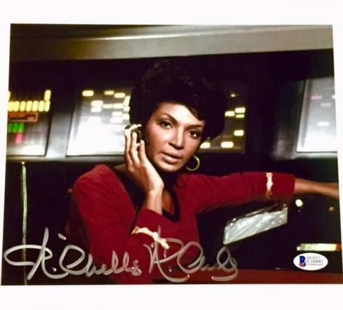 NICHELLE NICHOLS Uhura Autograph STAR TREK Signed 8x10 Photo #4 BAS Beckett COA