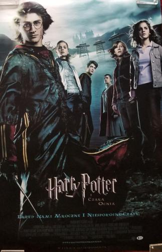 Daniel Radcliffe Signed Harry Potter & The Goblet of Fire Poster Auto BAS COA