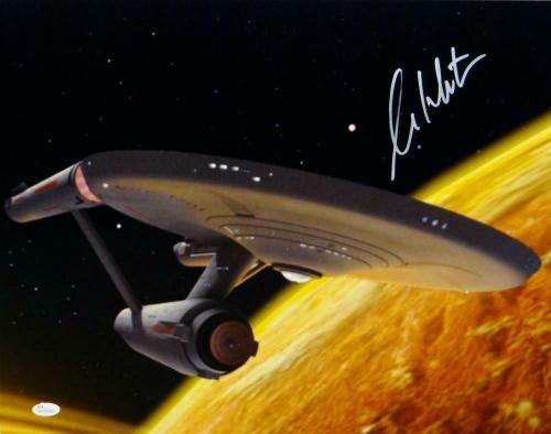 William Shatner Signed Star Trek 16x20 Starship Enterprise Photo  *R-JSA W Auth