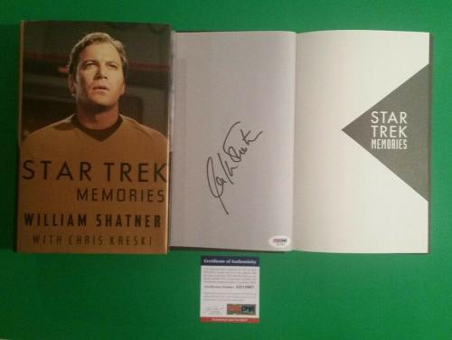 William Shatner Signed Hardcover Book Star Trek Memories Psa/dna Coa Authentic