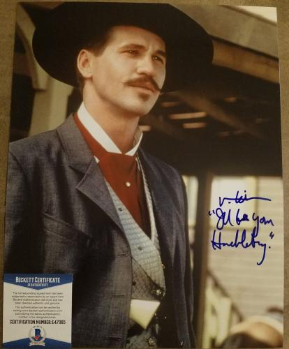 Val Kilmer Signed Autographed 11x14 Tombstone Color Bas Beckett Coa