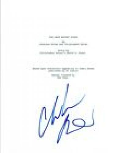 CHRISTIAN BALE Signed Autographed THE DARK KNIGHT RISES Movie Script COA
