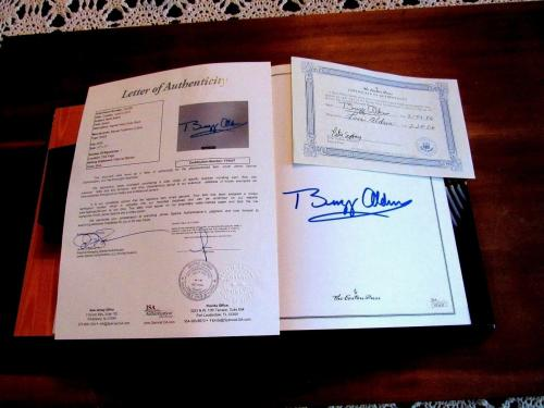 Buzz Aldrin Apollo 11 Signed Auto The Complete Illustrated History Book Jsa Loa