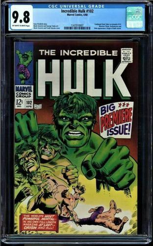 Incredible Hulk #102 Cgc 9.8 Oww 1st Hulk In Own Title Highest Graded 1347010007
