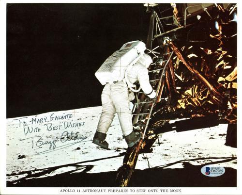 """Edwin """"Buzz"""" Aldrin NASA Apollo 11 Astronaut Signed 8x10 Press Photo BAS #D67969"""