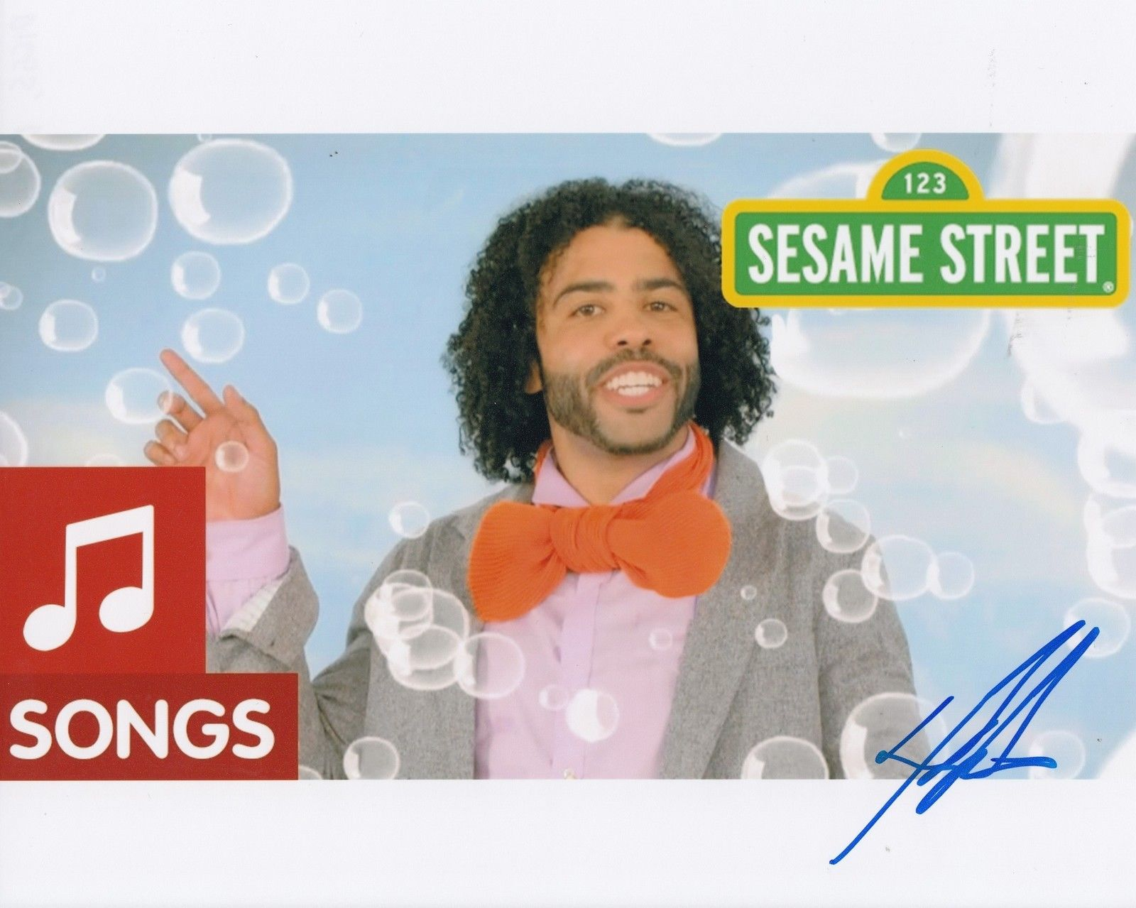 DAVEED DIGGS signed (SESAME STREET) 8X10 photo *RUBBER DUCKY* autographed  W/COA