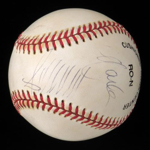 President Donald Trump & Second Wife Marla Maples Signed Baseball With JSA COA