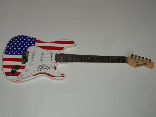 Tom Keifer Signed Usa Guitar Cinderella Proof Autographed Jsa Coa