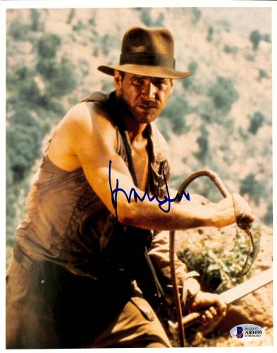 Harrison Ford Indiana Jones & The Temple Of Doom Signed 8x10 Photo BAS #A80490