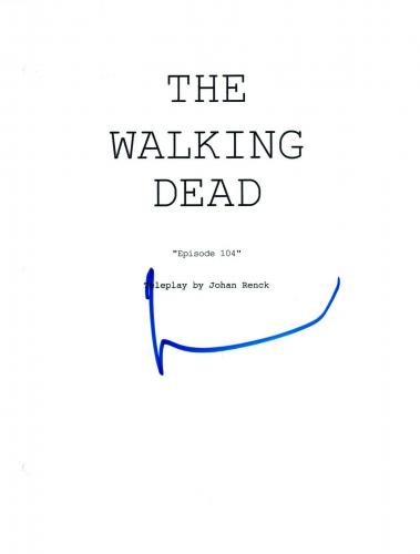 Norman Reedus Signed Autographed THE WALKING DEAD Episode 4 Script COA