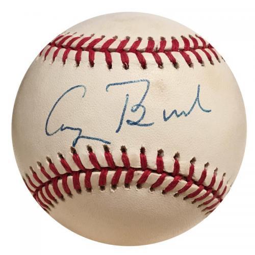 George H.W. Bush Single Signed Baseball, PSA & JSA
