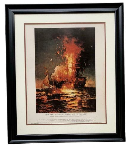 The Most Bold And Daring Act Of The Age Framed 16x20 Litho U.S. Philadelphia