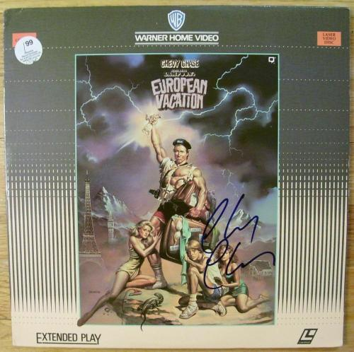 Chevy Chase Signed European Vacation Laserdisc - JSA
