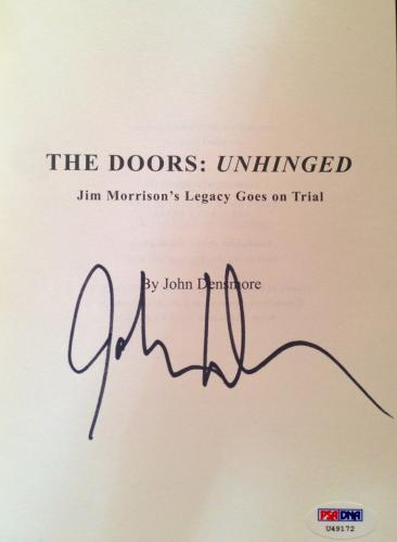 "John Densmore ""THE DOORS UNHINGED"" Signed Book PSA/DNA COA"