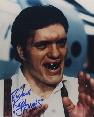 Richard Kiel Signed Autographed Color Photo Jaws James Bond 007 Villian!!