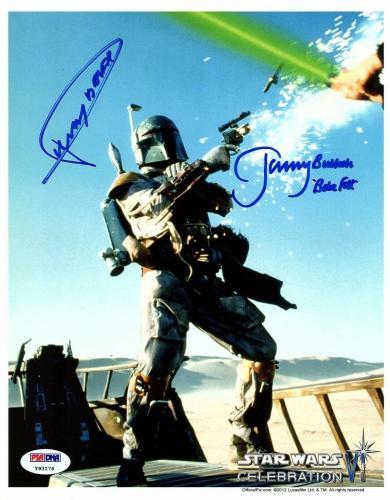 "JEREMY BULLOCH & DICKEY BEER Signed ""Boba Fett"" 8x10 Official Pix Photo PSA/DNA"