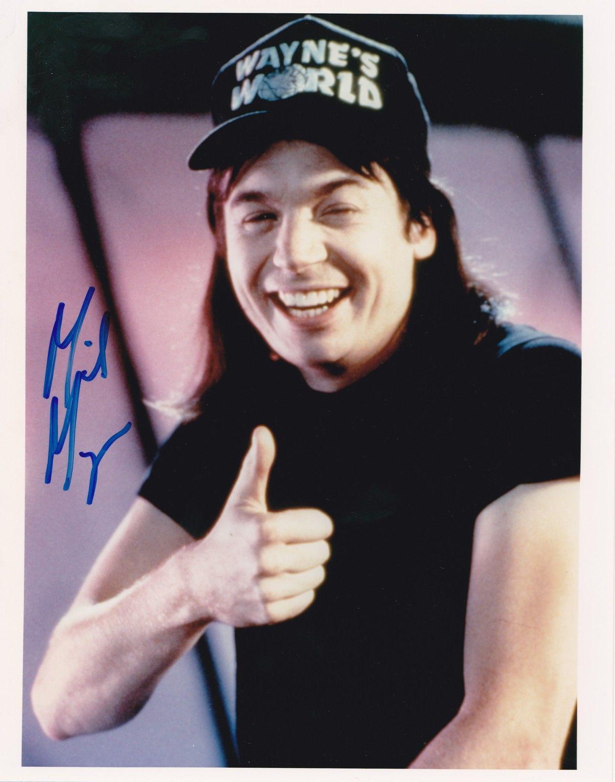 Signed Myers Picture - 8x10 Waynes World Snl Austin Powers Coa
