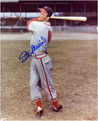 "Stan Musial St. Louis Cardinals Autographed 8"" x 10"" Swinging Photograph"