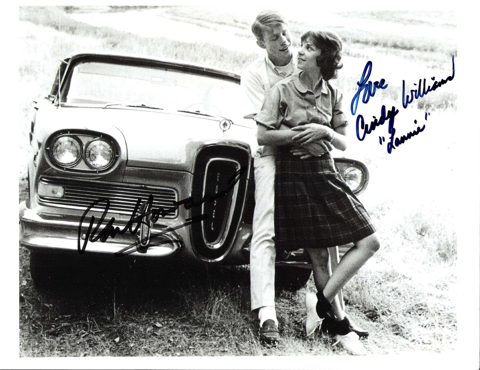 "AMERICAN GRAFFITI"" Signed by RON HOWARD as STEVE and CINDY ..."