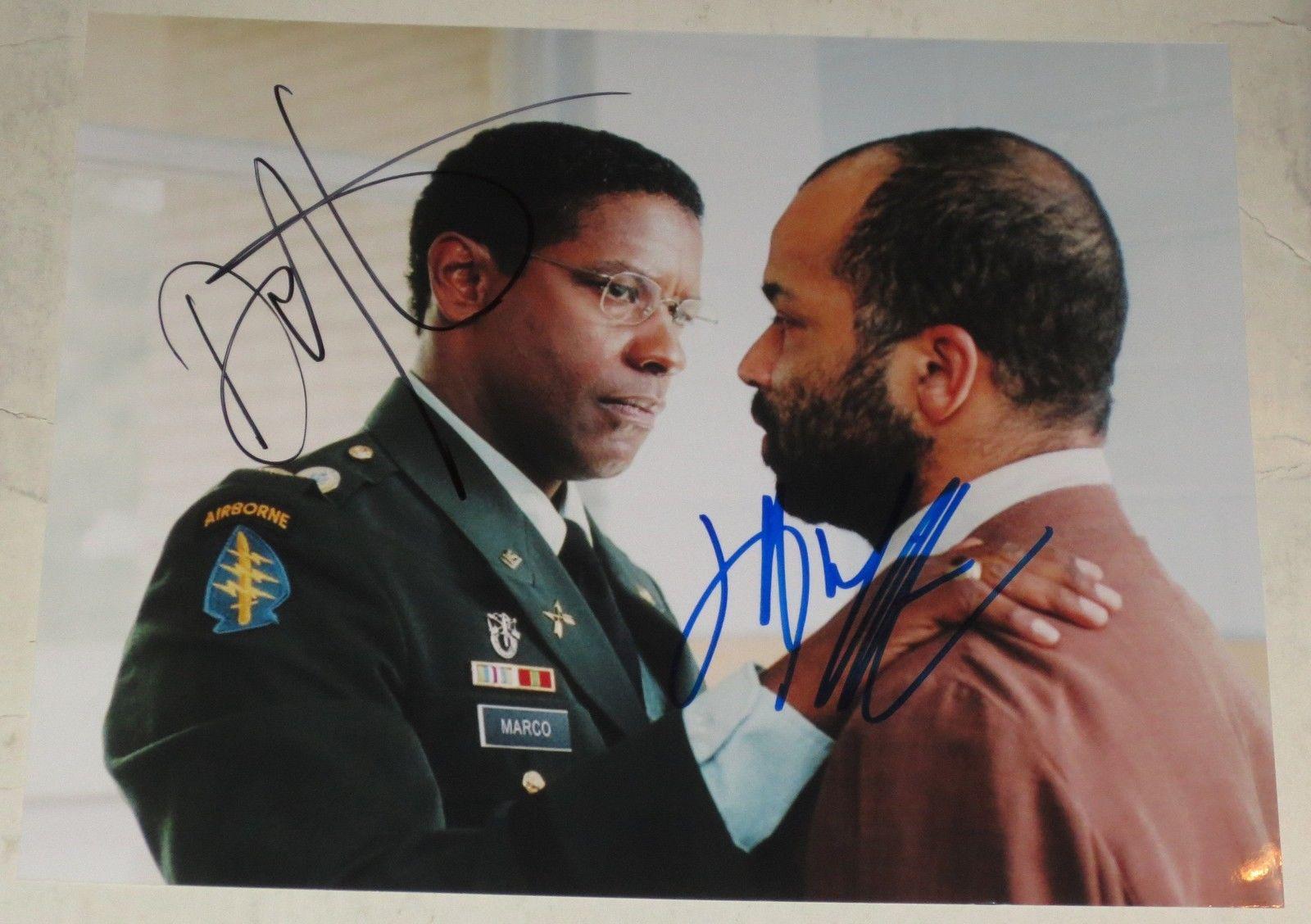 Denzel Washington Jeffrey Wright Dual Signed 8x10 Photo Autograph Coa