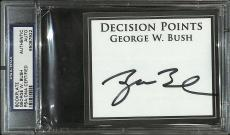 43rd President George W. Bush Signed Cut Book Plate Card PSA/DNA COA Autograph