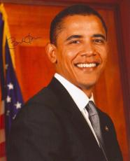 44th President BARACK OBAMA Signed 8x10 Color Photo JSA Full Letter Coa!!
