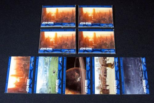 Lot of (5) 2002 Topps UK Star Wars Attack of the Clones Planets Set (P1-P5)Nm/Mt