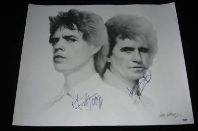 MICK JAGGER KEITH RICHARDS signed 24x20 lithograph PSA