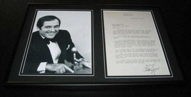 Alan King Signed Framed 1976 Letter & Photo Display