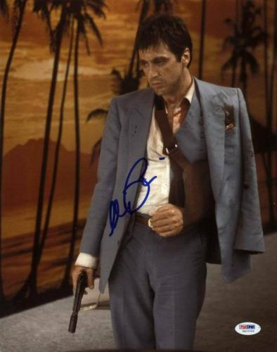 Al Pacino Scarface Signed 11X14 Photo Graded Perfect 10! PSA/DNA ITP #5A00529