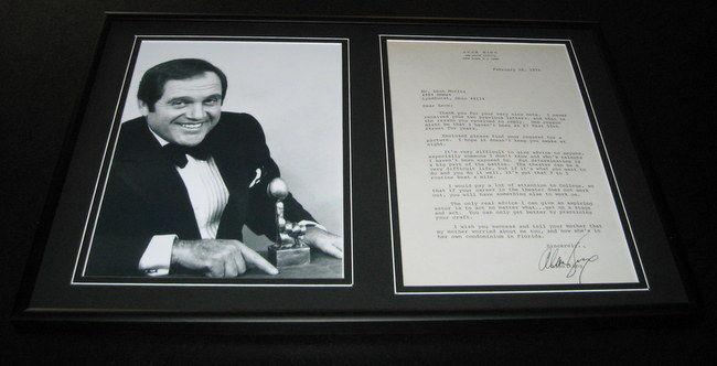 Alan King Signed Framed 1976 Letter & Photo Display