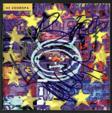 (5) Johnny Cash, Bono, Edge, Clayton & Mullen Signed U2 CD Cover JSA #X24828