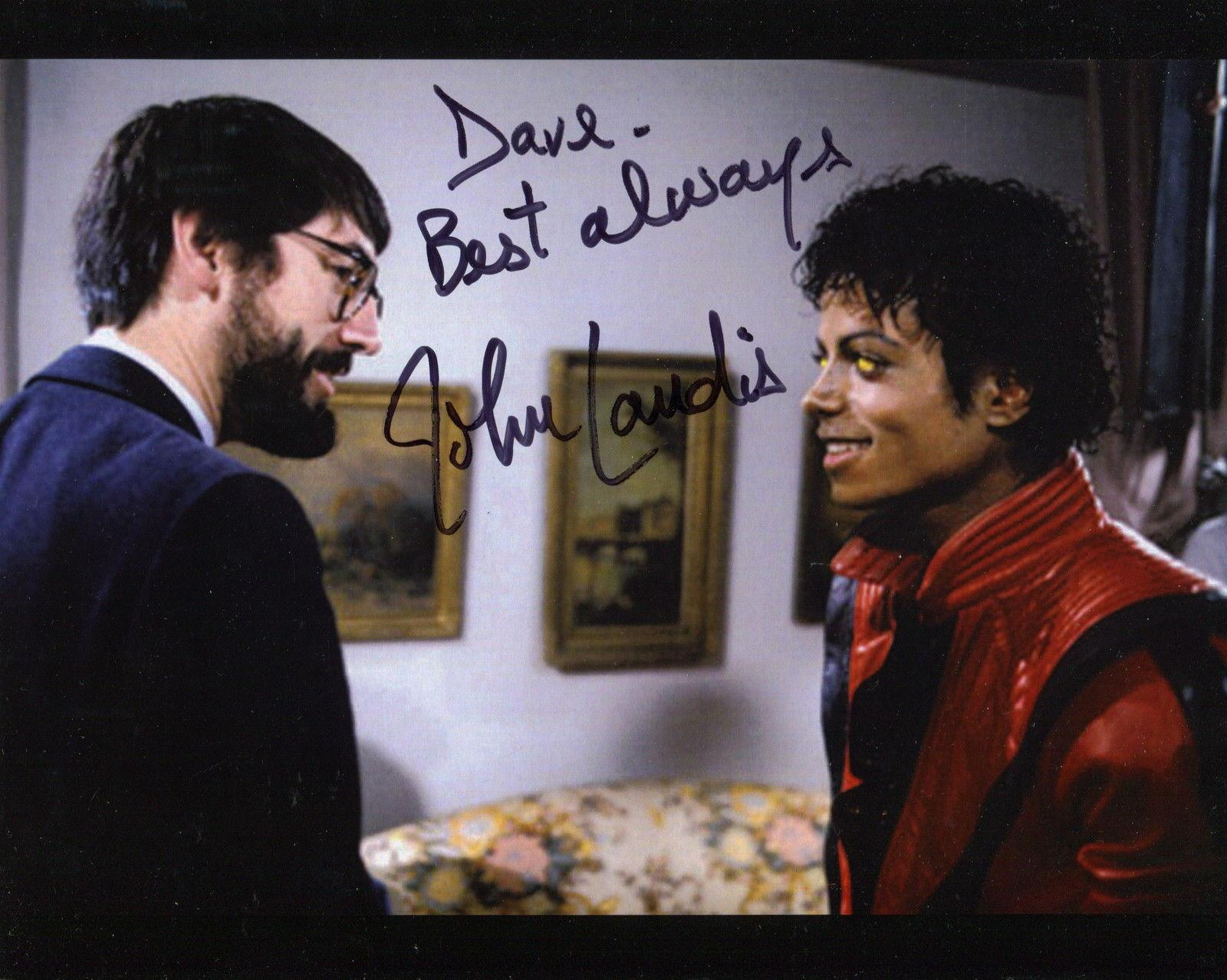 JOHN LANDIS HAND SIGNED 8x10 COLOR PHOTO+COA        MICHAEL JACKSON THRILLER